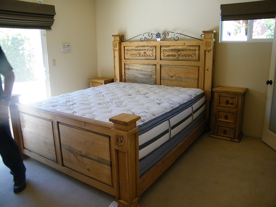 Mexican Pine King Size Bed