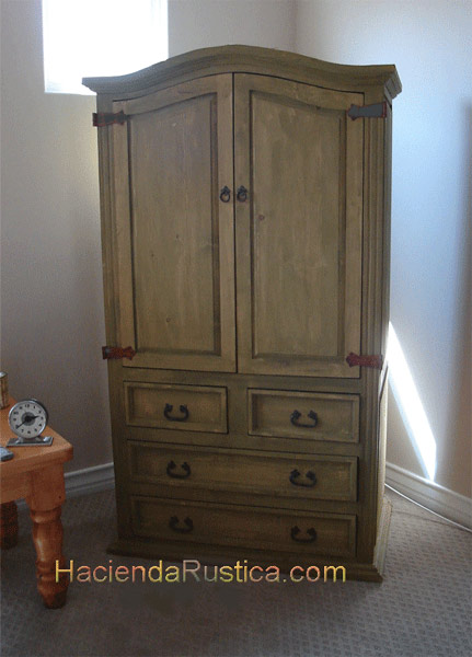 mexican rustic armoire