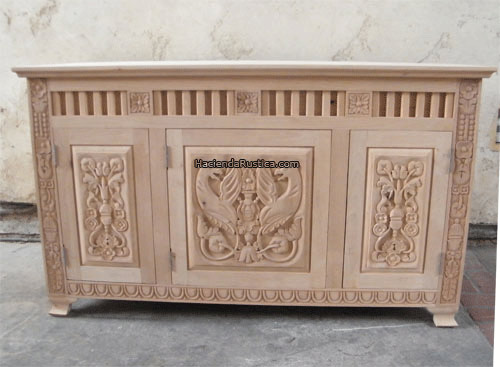carved furniture vanity unfinished