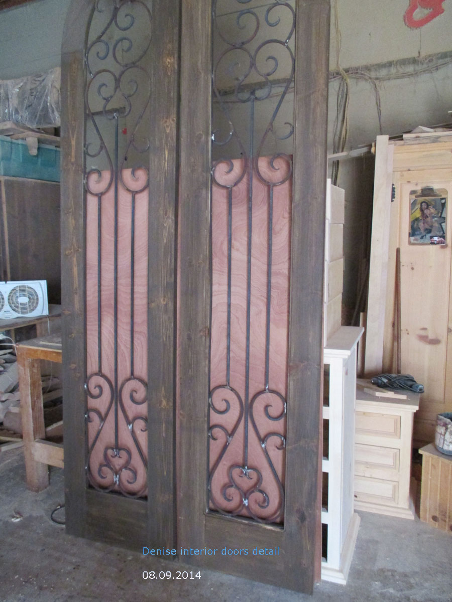 wrought iron arched top door
