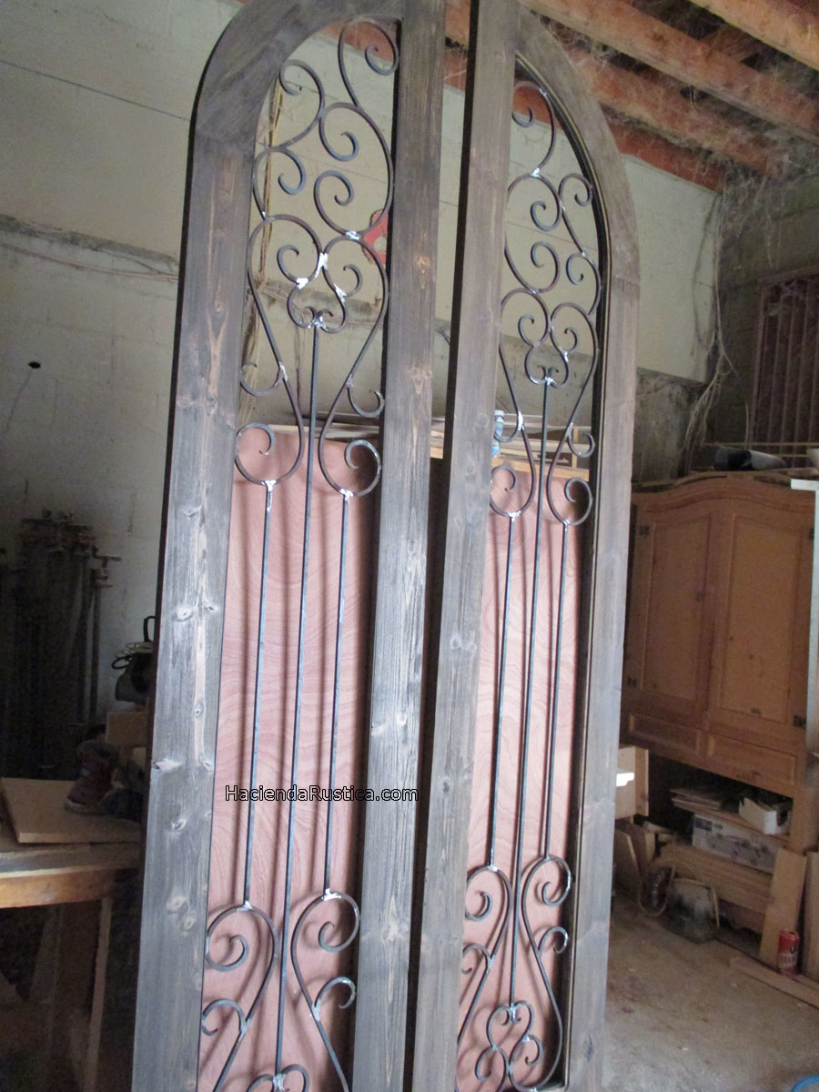 wrought iron arched top doors