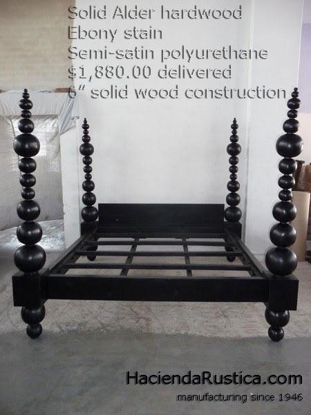 Custom hardwood sphere bed