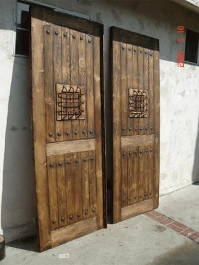 mexican doors walnut color stain